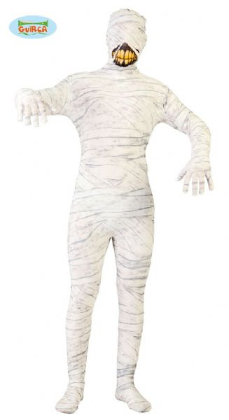 Adult Mummy Costume for Mens Zombie Halloween Fancy Dress Jumpsuit